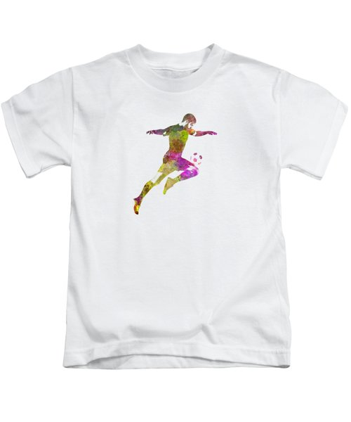 Man Soccer Football Player 12 Kids T-Shirt by Pablo Romero