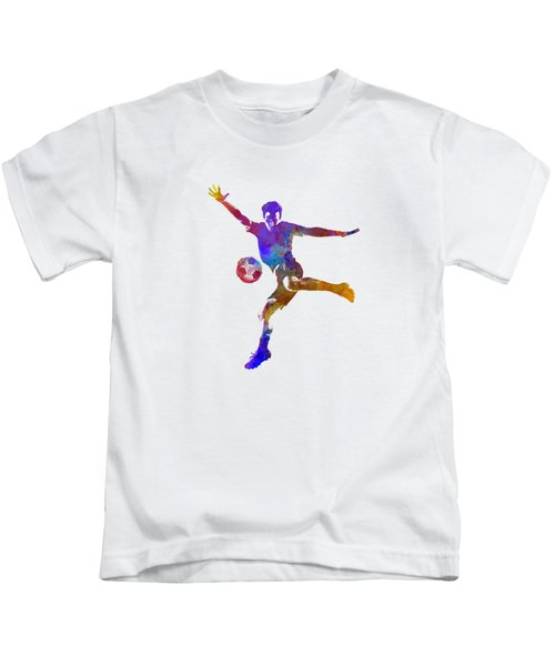 Man Soccer Football Player 14 Kids T-Shirt by Pablo Romero