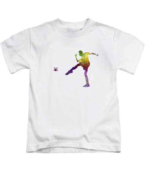 Man Soccer Football Player 15 Kids T-Shirt by Pablo Romero
