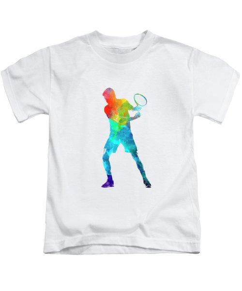 Man Tennis Player 02 In Watercolor Kids T-Shirt