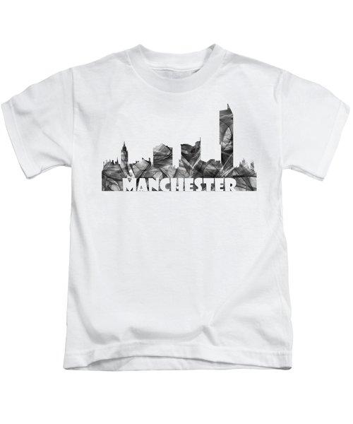 Manchester England Skyline Kids T-Shirt