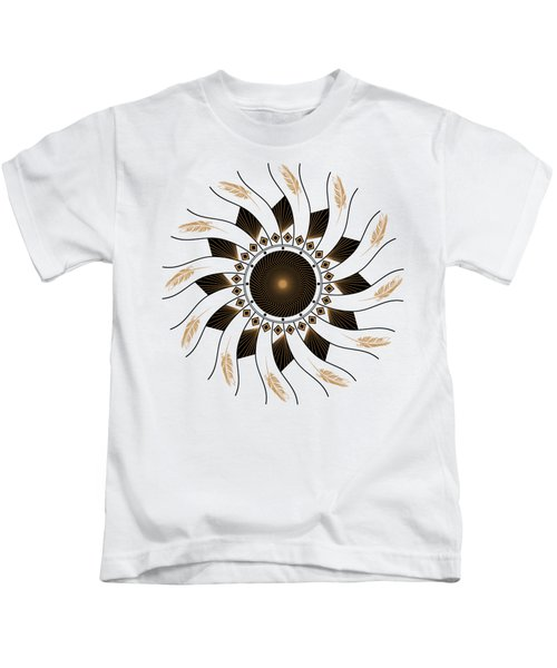 Mandala Black And Gold Kids T-Shirt
