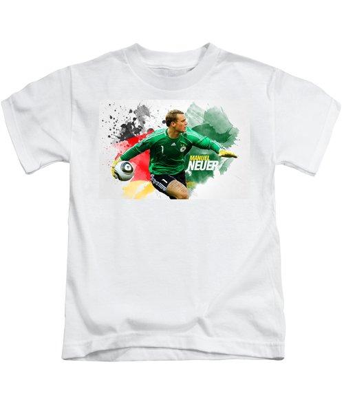 Manuel Neuer Kids T-Shirt by Semih Yurdabak