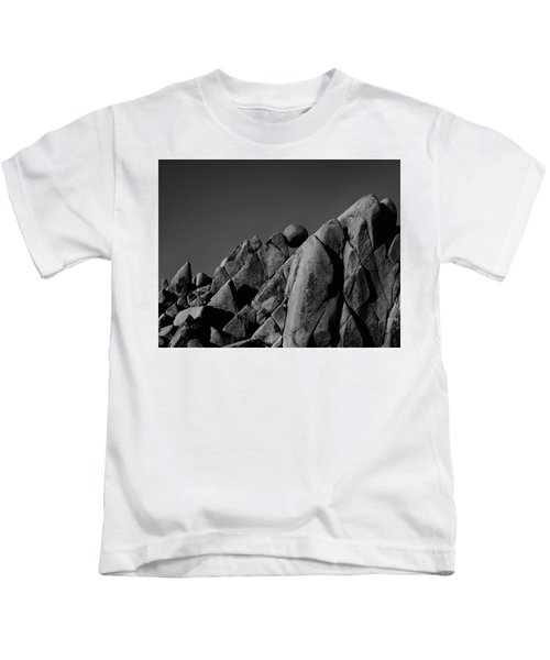 Marble Rock Formation B And W Version Kids T-Shirt