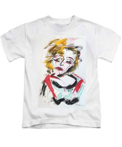 Marilyn Abstract Kids T-Shirt