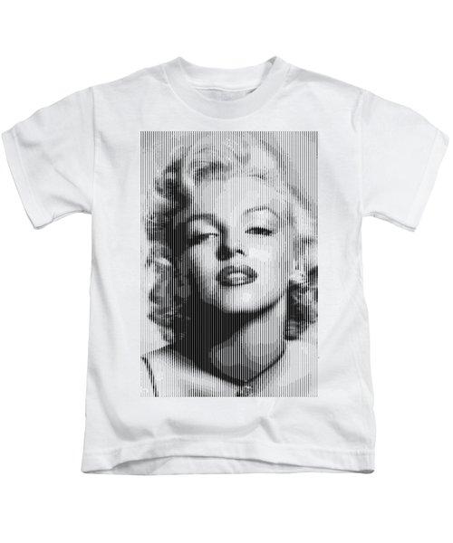 Marilyn Monroe - Bw Verticals  Kids T-Shirt