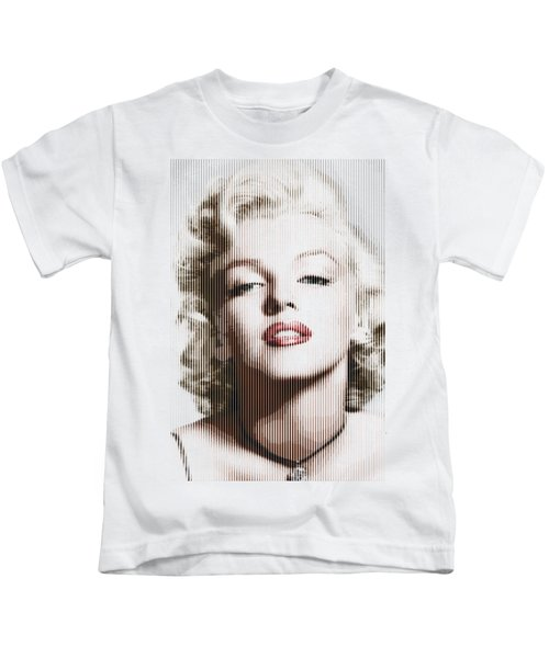 Marilyn Monroe - Colored Verticals Kids T-Shirt