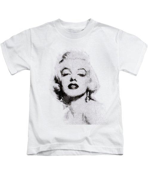 Marilyn Monroe Portrait 02 Kids T-Shirt