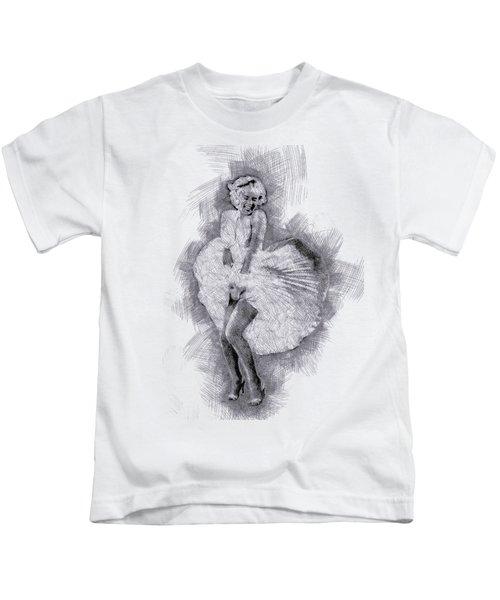 Marilyn Monroe Portrait 03 Kids T-Shirt