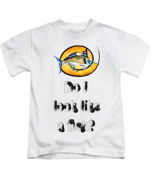 Marlinissos V1 - Violinfish With Text Kids T-Shirt by Cersatti
