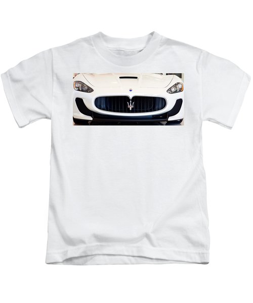 Maserati White Pano 121715 Kids T-Shirt