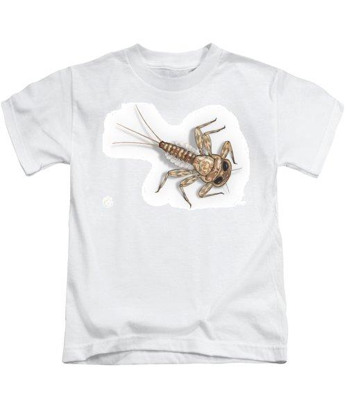 Mayfly Larva Nymph Rithorgena Ecdyonurus Venosus - Moscas De May Kids T-Shirt
