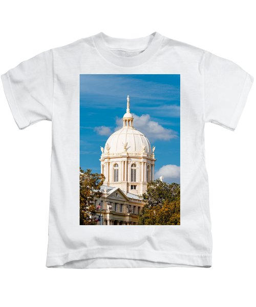 Mclennan County Courthouse Dome By J. Reily Gordon - Waco Central Texas Kids T-Shirt