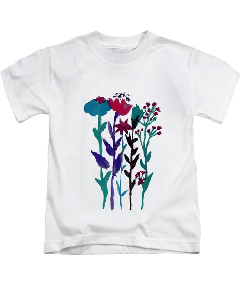 Meadow Flowers Watercolor Kids T-Shirt