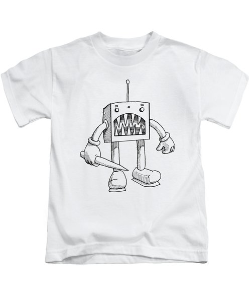 Mean Robot Kids T-Shirt