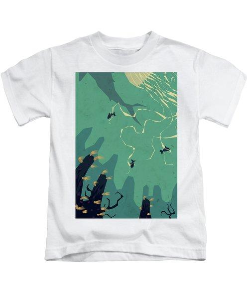 Meanwhile, Below Kids T-Shirt