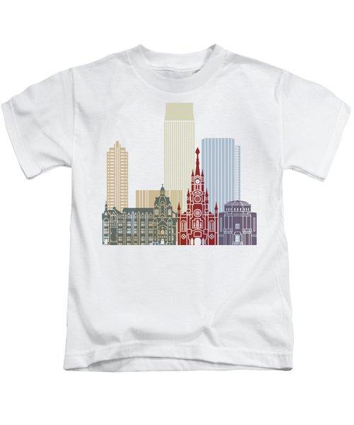 Medellin Skyline In Poster Kids T-Shirt