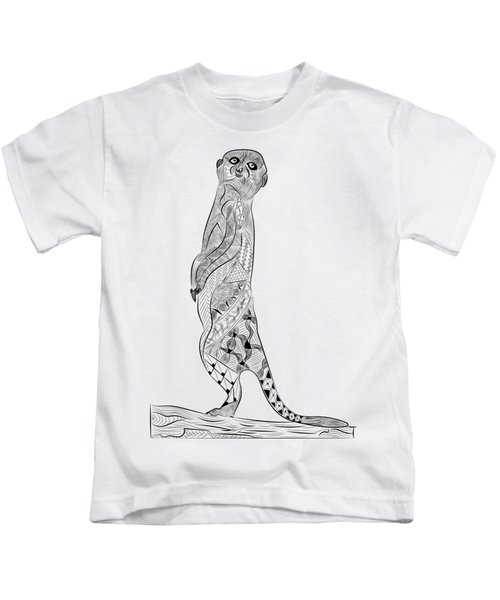Meerkat Kids T-Shirt by Serkes Panda