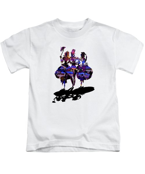 Menage A Trois On Transparent Background Kids T-Shirt