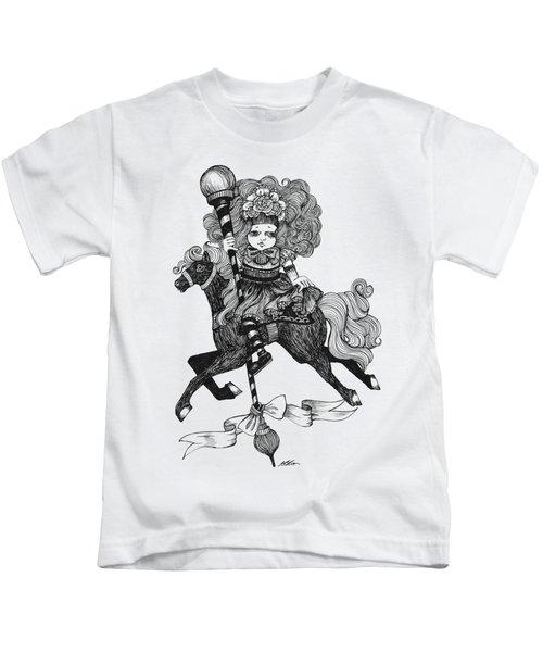 Merry-go-round Girl Kids T-Shirt