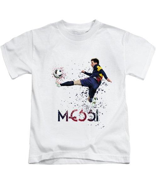 Messi Kids T-Shirt by Armaan Sandhu