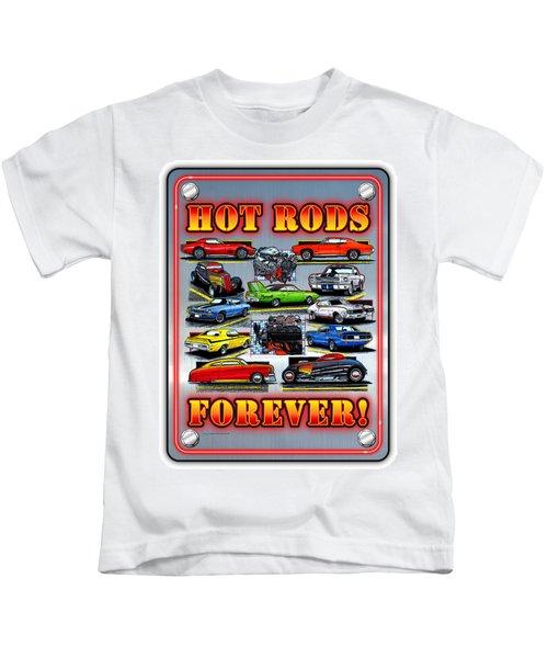 Metal Hot Rods Forever Kids T-Shirt