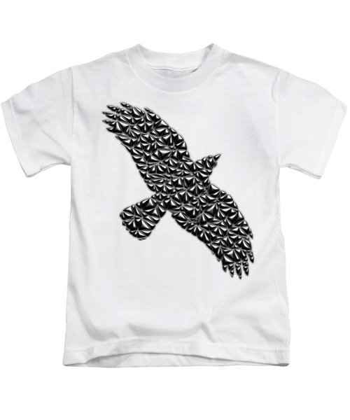 Metallic Crow Kids T-Shirt by Chris Butler
