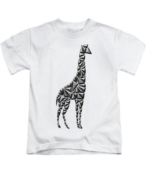 Metallic Giraffe Kids T-Shirt by Chris Butler