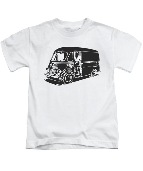 Kids T-Shirt featuring the digital art Metro Step Van Tee by Edward Fielding