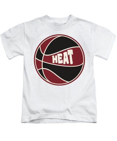 Miami Heat Retro Shirt Kids T-Shirt by Joe Hamilton