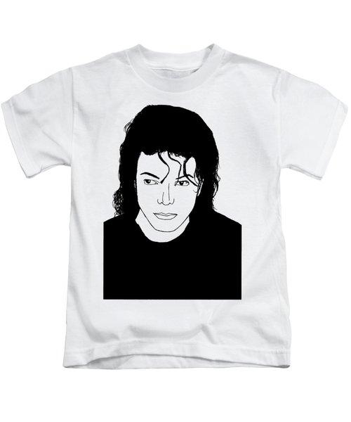 Michael Jackson Kids T-Shirt by Lionel B