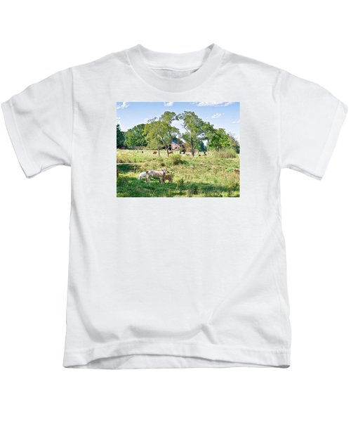 Midwest Cattle Ranch Kids T-Shirt