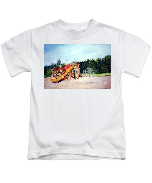 Mildred Goes Down The Slide Kids T-Shirt