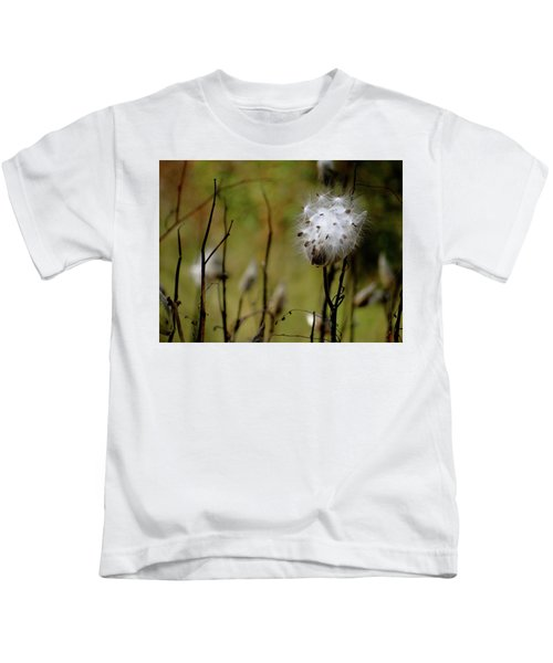 Milkweed In A Field Kids T-Shirt