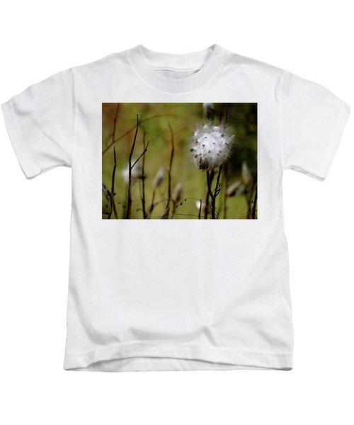 Milkweed In A Field Kids T-Shirt