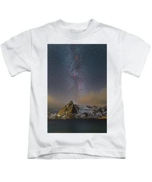 Milky Way In Lofoten Kids T-Shirt