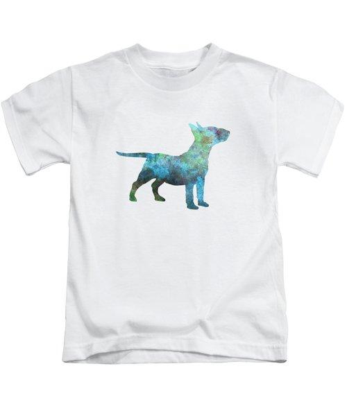 Miniature Bull Terrier In Watercolor Kids T-Shirt