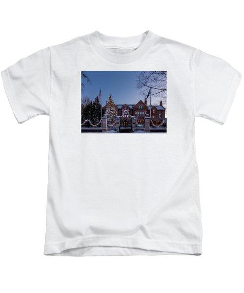 Christmas Lights Series #6 - Minnesota Governor's Mansion Kids T-Shirt