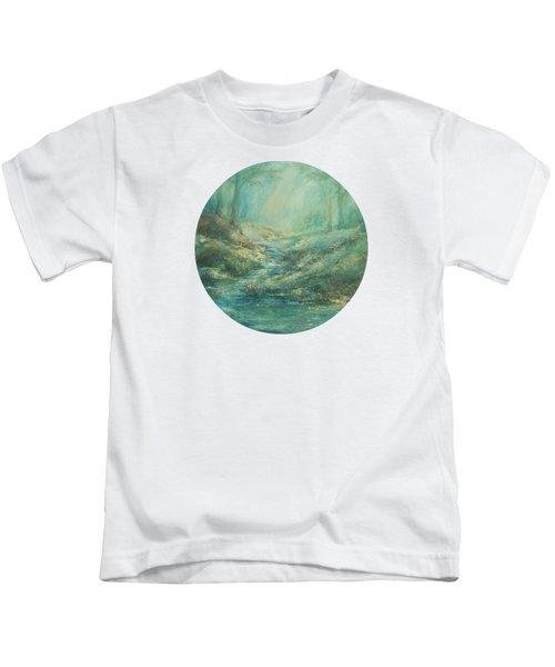 The Misty Forest Stream Kids T-Shirt