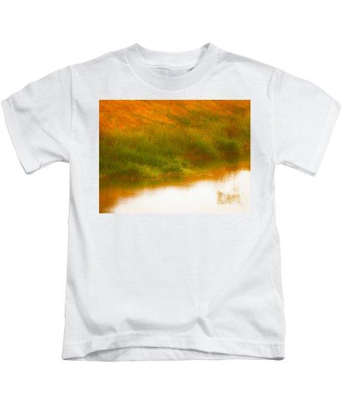 Misty Yellow Hue -lone Jacana Kids T-Shirt