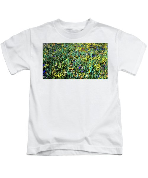 Mixed Wildflowers In Texas Kids T-Shirt