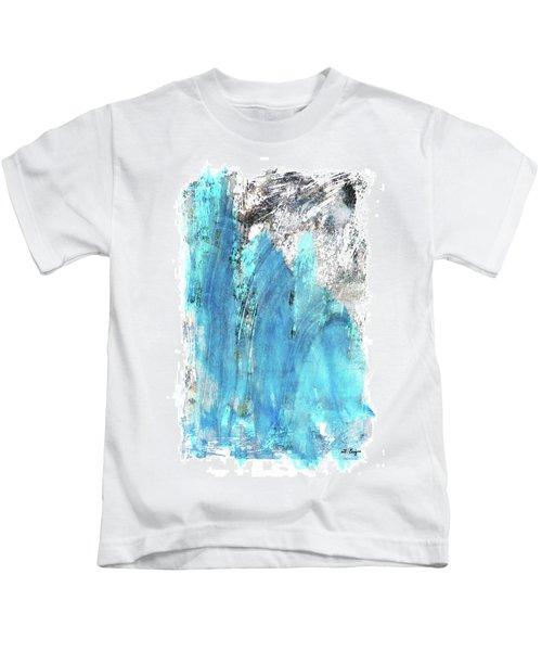 Modern Abstract Art - Blue Essence - Sharon Cummings Kids T-Shirt