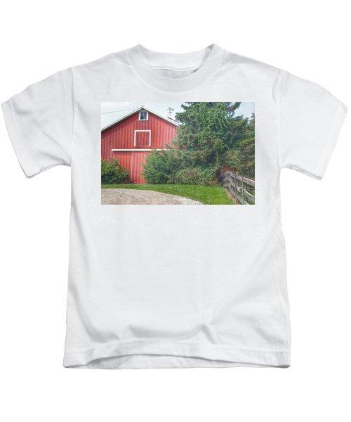 0030 - Modern Red I Kids T-Shirt