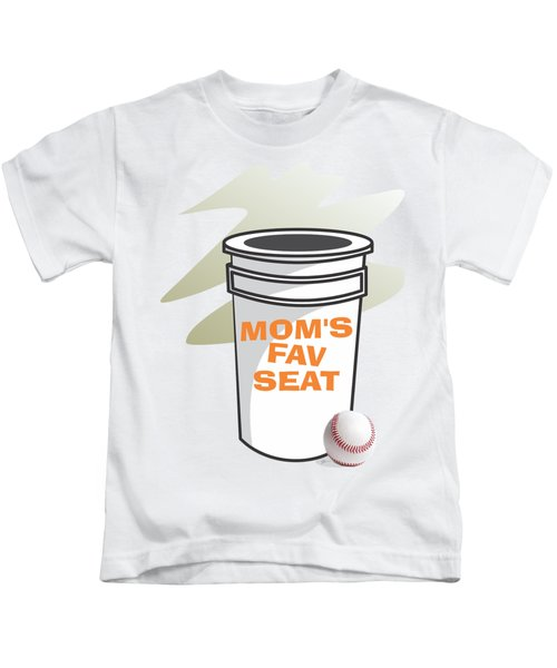 Mom's Favorite Seat Kids T-Shirt by Jerry Watkins