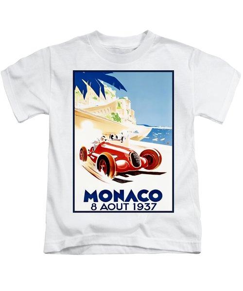 Monaco Grand Prix 1937 Kids T-Shirt