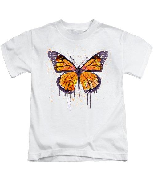 Monarch Butterfly Watercolor Kids T-Shirt