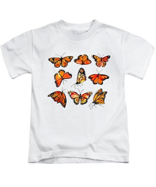 Monarch Kaleidescope Kids T-Shirt