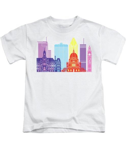 Montreal_v2 Skyline Pop Kids T-Shirt