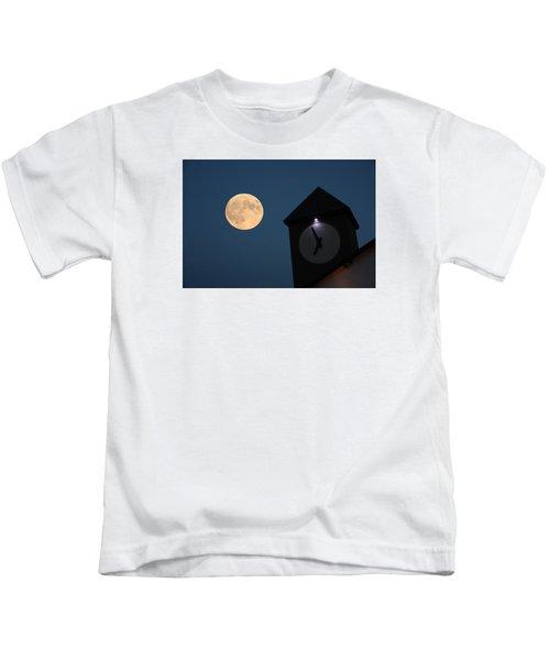 Moon And Clock Tower Kids T-Shirt
