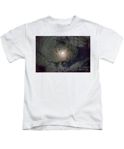 Moon And Clouds Kids T-Shirt
